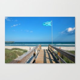 Public Beach Access Canvas Print