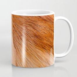 Red fox hairy fur texture cloth Coffee Mug