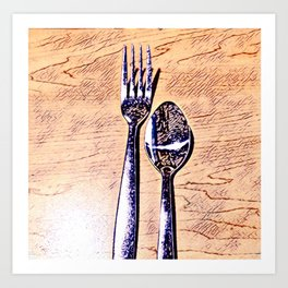 Forks and knives Art Print