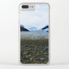 Columbia Icefields in Jasper National Park, Canada Clear iPhone Case