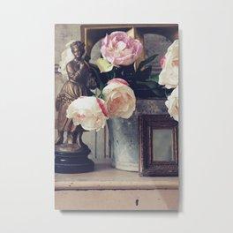 Flower & Bucket Metal Print