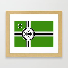 Kekistan Flag Framed Art Print