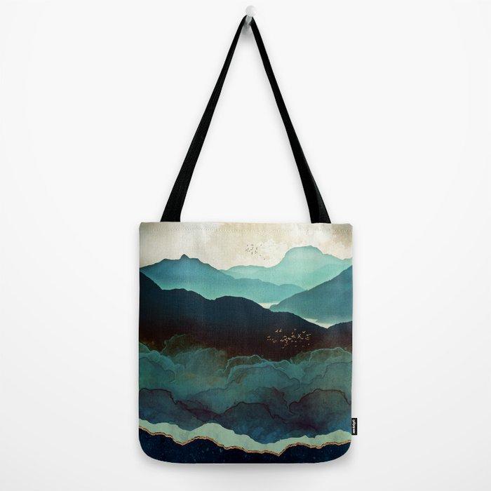 Indigo Mountains Tote Bag
