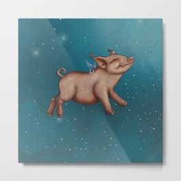 When pigs fly! Metal Print