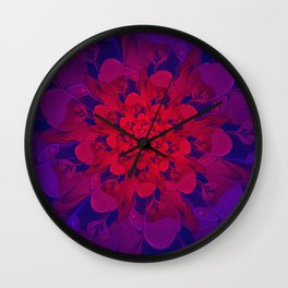 Abstract Colorful Flower with Hearts | Valentine's Day - 14 February Wall Clock