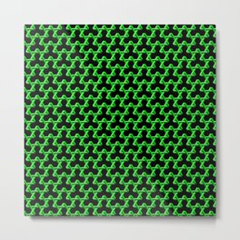 Impossible Green Triangles Metal Print