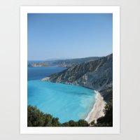 greece Art Prints featuring Greece by Melia Metikos