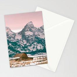 Grand Tetons Barn Stationery Cards