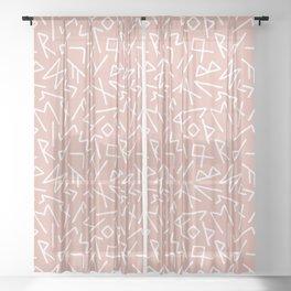 Scrambled Runes II Sheer Curtain