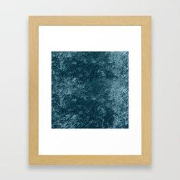 Peacock teal velvet Framed Art Print