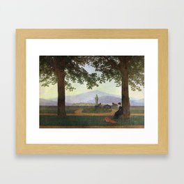 Caspar David Friedrich The Garden Terrace Framed Art Print