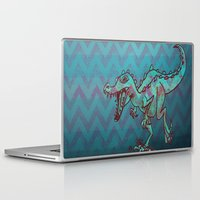 dino Laptop & iPad Skins featuring dino  by Bunny Noir