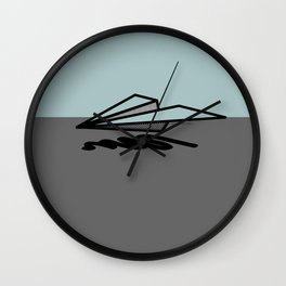 Paper Airplane 6 Wall Clock