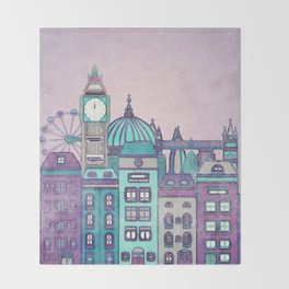 London Skyline Throw Blanket