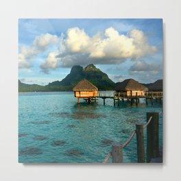 Bora Bora Tahiti Bungalow 2 Metal Print