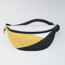 Gold & Black Geometry Fanny Pack