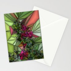 Pink and Green Glass Stationery Cards
