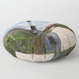 Fire Island Light With Reflection - Long Island Floor Pillow