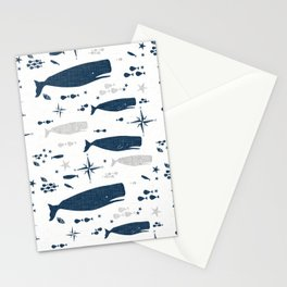 Sperm Whale #nautical #homedecor #coastal #whale Stationery Cards