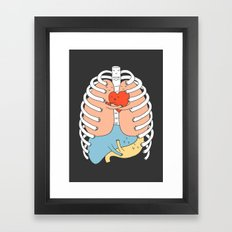 Hugs Keep Us Alive 2 Framed Art Print