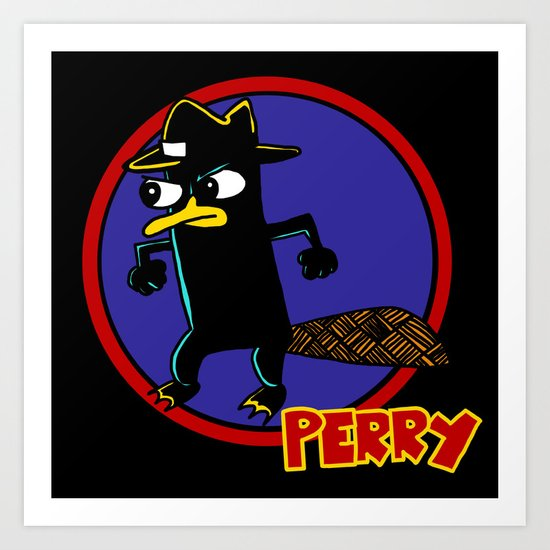 Perry The Platypus as Dick Tracy Art Print