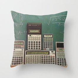 Casio Calculators...the good old days. Throw Pillow