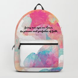 Perfecter of Faith, Scripture Tote Bag Backpack