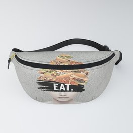 EAT collage Fanny Pack
