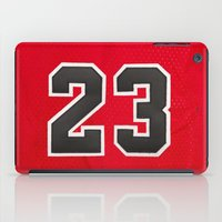 chicago bulls iPad Cases featuring Michael 23 Jordan Chicago Bulls by Rorzzer