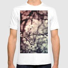 Tree Blossom Mens Fitted Tee MEDIUM White