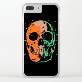Space skull v1 Clear iPhone Case