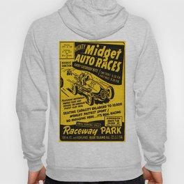 Midget Auto Races, Race poster, vintage poster Hoody