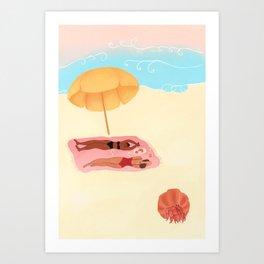 A Post Picnic Nap Art Print