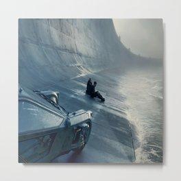 Bladerunner 2049 Deckard + K Seawall Metal Print