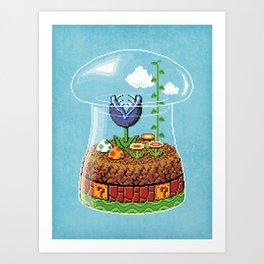 Toadstool Terrarium Art Print