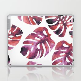 Monstera Red Laptop & iPad Skin
