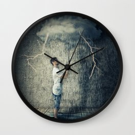 umbrella cloud Wall Clock