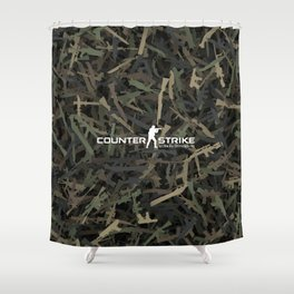 Counter strike weapon camouflage Shower Curtain