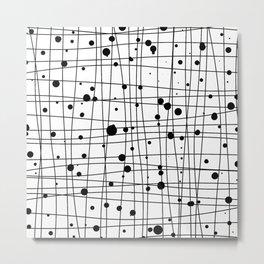 Woven Web black and white Metal Print