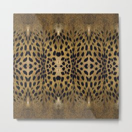 Leopard Pattern Leather Print Metal Print