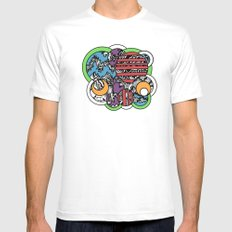 POP! Mens Fitted Tee MEDIUM White