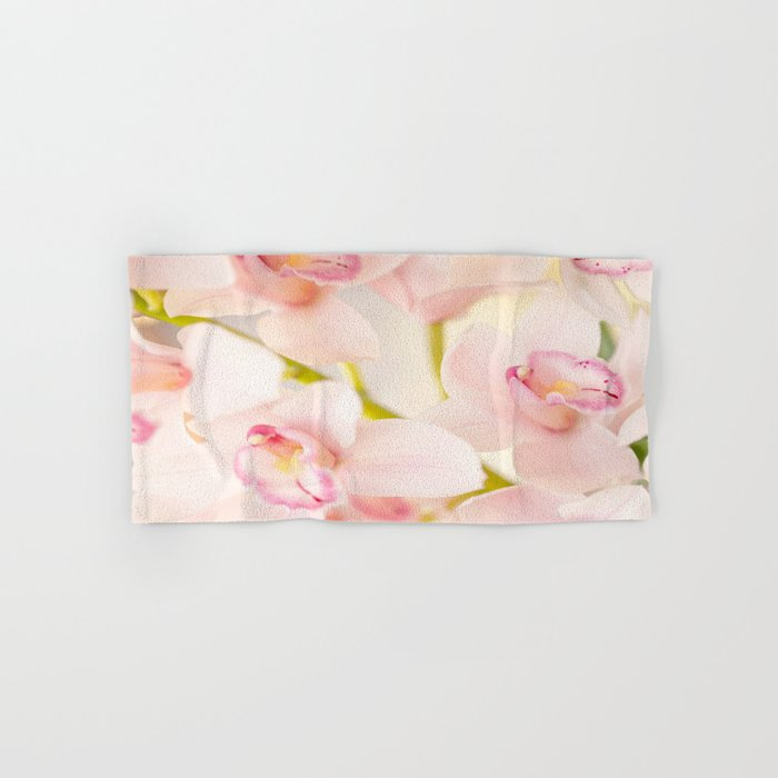 Orchid Flower Bouquet On A Light Background #decor #society6 #homedecor Hand & Bath Towel