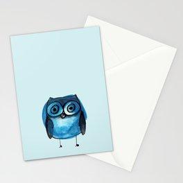 Blue Owl Boy Stationery Cards