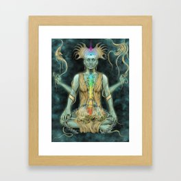 Building The Temple Framed Art Print