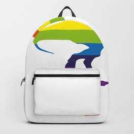 LGBT Funny Dinosaur T Rex Rainbow Pride Gifts Backpack