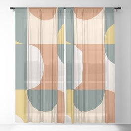 Mid Century Modern Geometric 23 Sheer Curtain