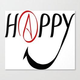 Happy Atheists Canvas Print