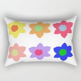 Flowers - Multiple Colour Rectangular Pillow