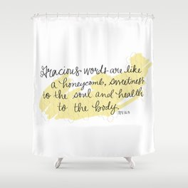 Honeycomb - Proverbs 16:24 Shower Curtain