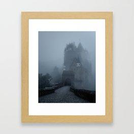Eerie Castle Eltz in the mist Framed Art Print